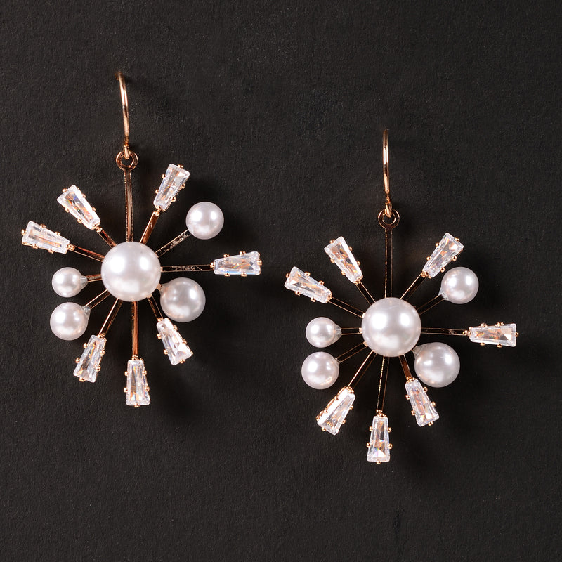 Pearly Spiky  Earrings