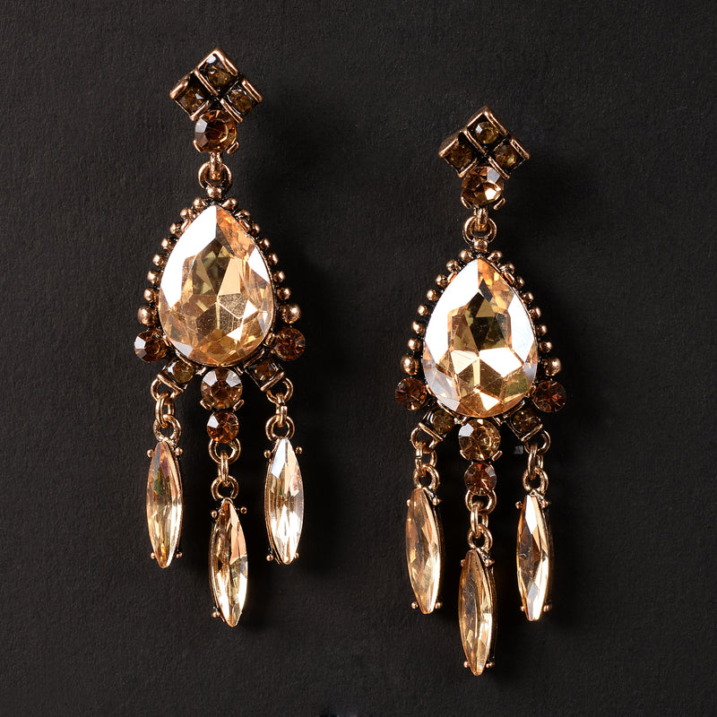 Hanging Golden Earrings
