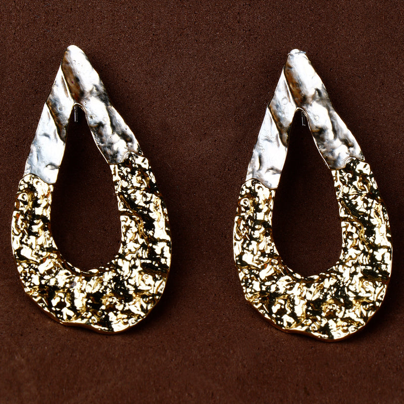 Double tone drop Earrings