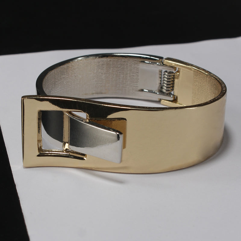 Broad metallic gold and silver Bracelet