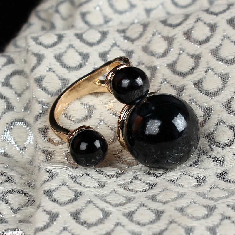 Black adjustable Ring