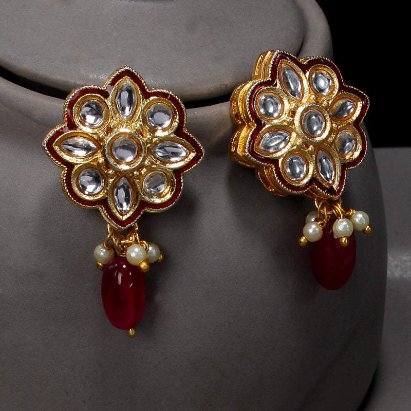 Red crystal Kundan Necklace