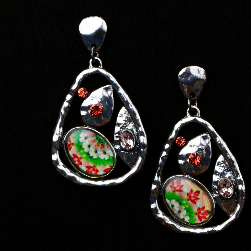 Multicolor metallic Earring