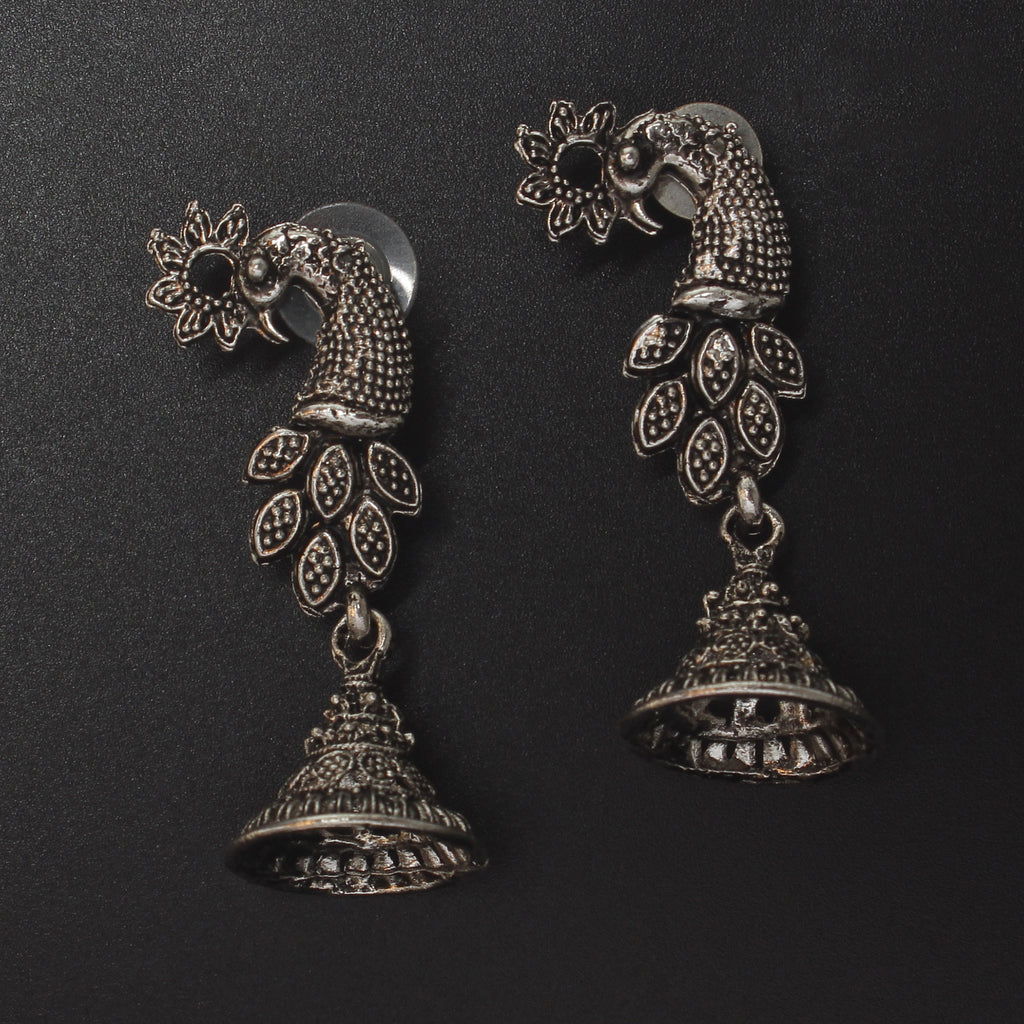 Peacock shaped authentic Silver alloy Earring