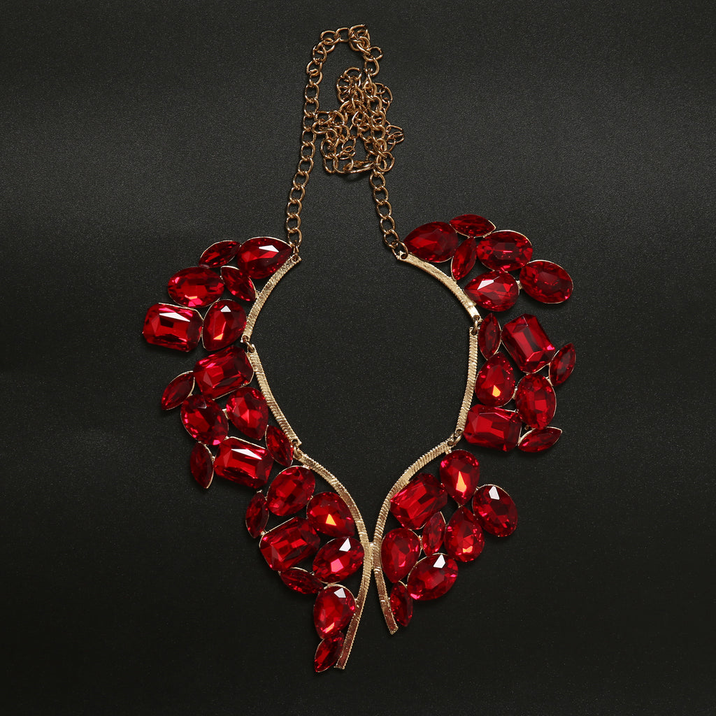 RED CRYSTAL NECKPIECE