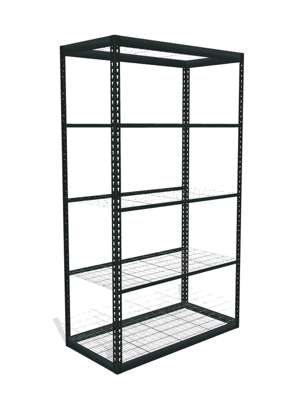 Boltless Shelving (Space Saver) with Wire Mesh Decking