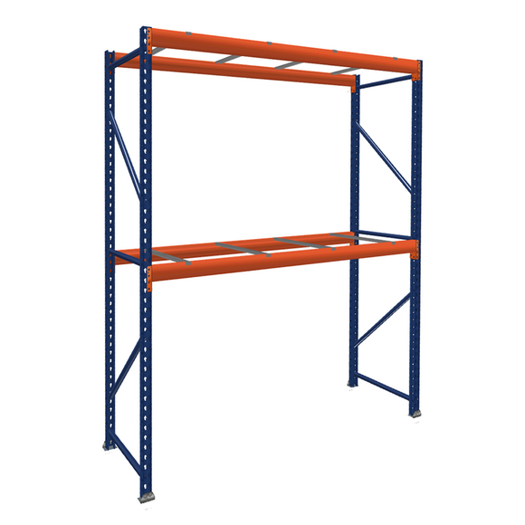Pallet Rack Starter Unit with Pallet Supports