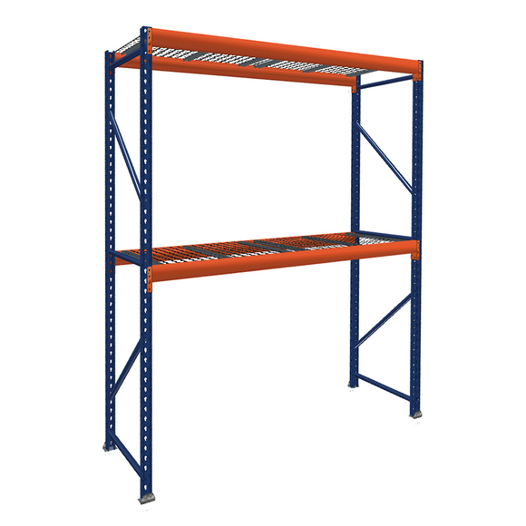 Pallet Rack Starter Unit with Wire Mesh Decking
