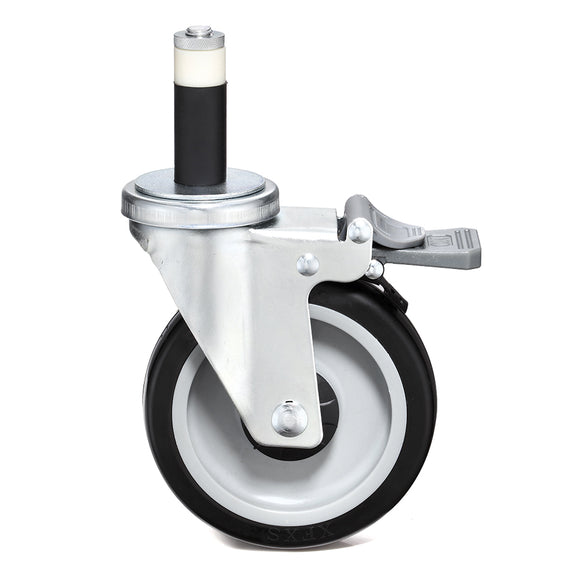 swivel caster with locking mechanism