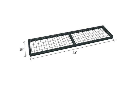 Bulk Shelving Extra Shelf 1500 lb. Capacity - Wire Mesh Decking