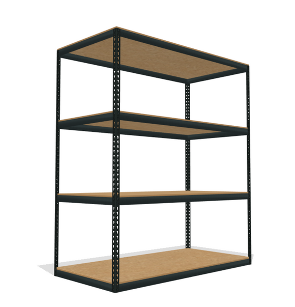 4 shelf particle board decking boltless shelving