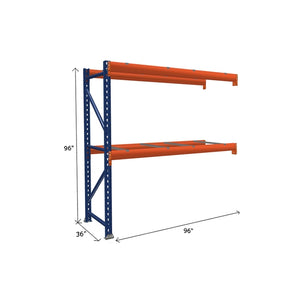 Pallet Rack Add-On Unit with Pallet Supports