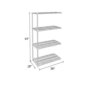 Add-On Unit (chrome) - 500 lb. Capacity per Shelf