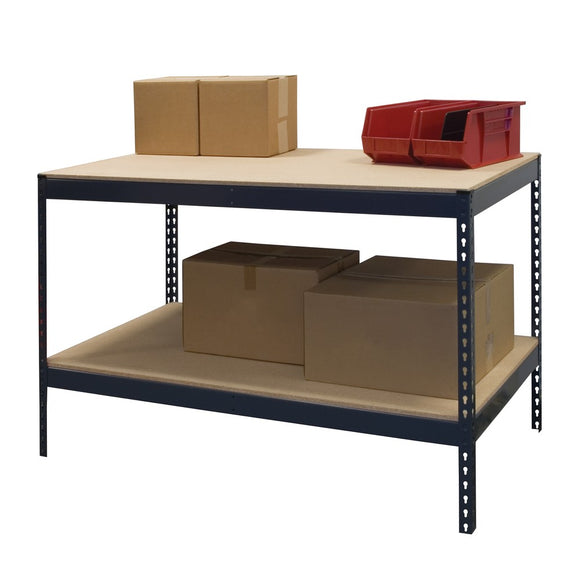 Boltless Workbench with Bottom Shelf