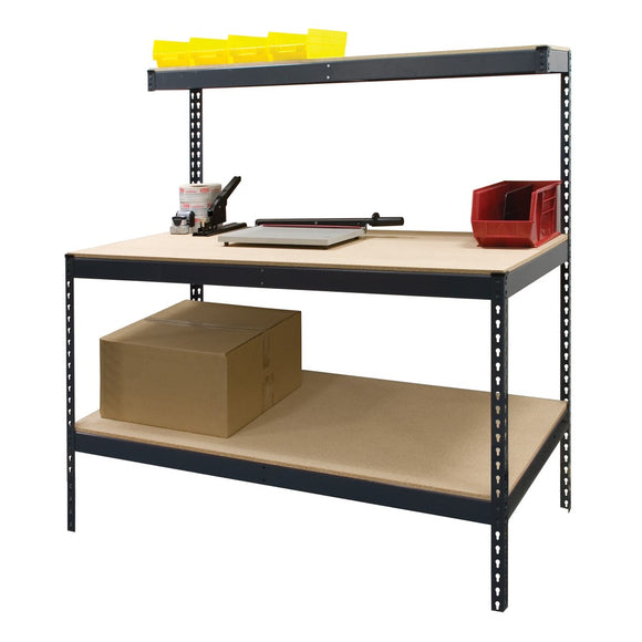 Boltless Workbench W/ Top & Bottom Shelf