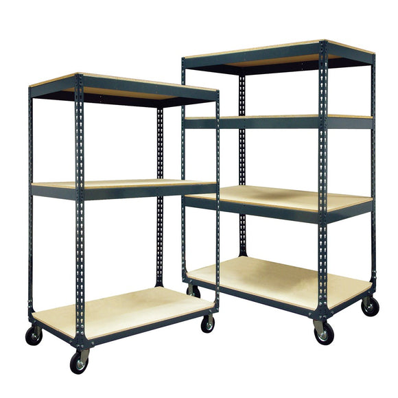 Boltless Mobile Shelf Cart