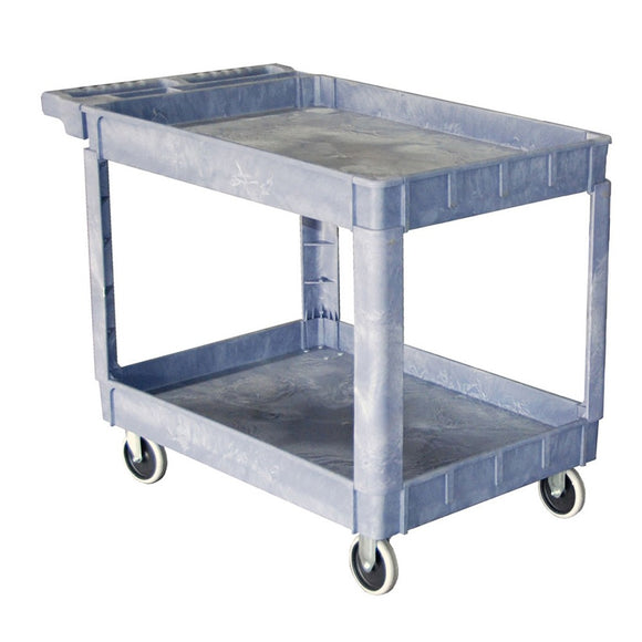 gray plastic service cart