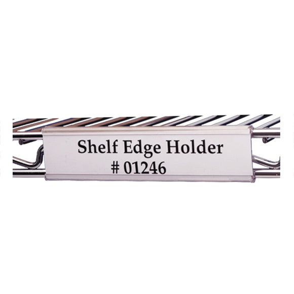 snap on label holder for chrome wire shelving
