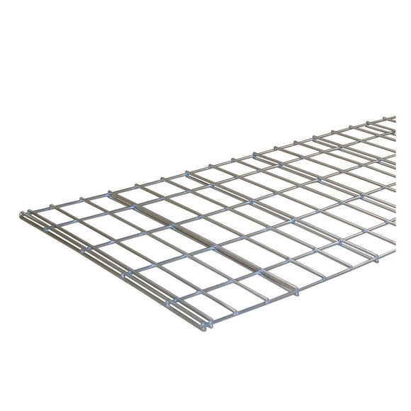 silver mesh decking for use with boltless shelving