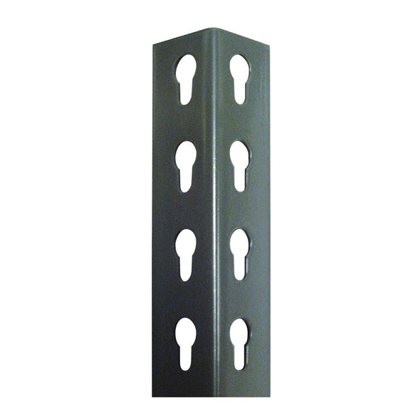 metal upright posts with cutouts