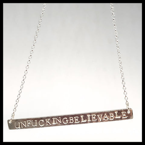 Sweary Necklace - unfuckingbelievable