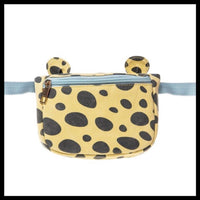 Animal Print Bum Bag - Glitter & MudCarry your jungle essentials in style with this totally cool Rockahula animal print bumbag - 2 colours. print canvas fabric, with little ears and an adjustable webbing waist strap.