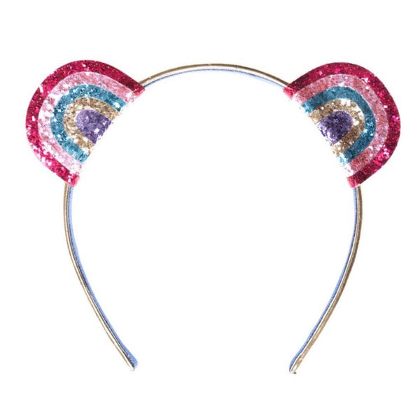 Rainbow Glitter Hairband - Glitter & Mud