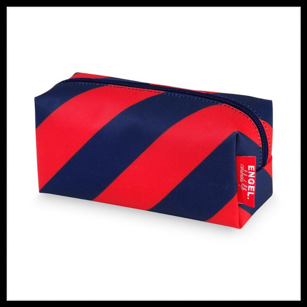 Pencil case brick- Stripe Navy & Red