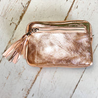 Metallic Leather Camera Bag