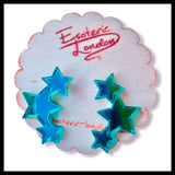 Tripple Star Mirrored Acrylic Earrings