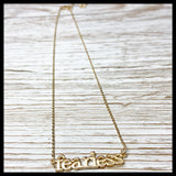 Word Necklace - Glitter & Mud