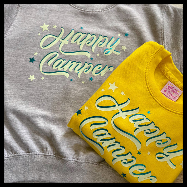 Glow in the dark 'Happy Camper' Kid's Sweatshirt
