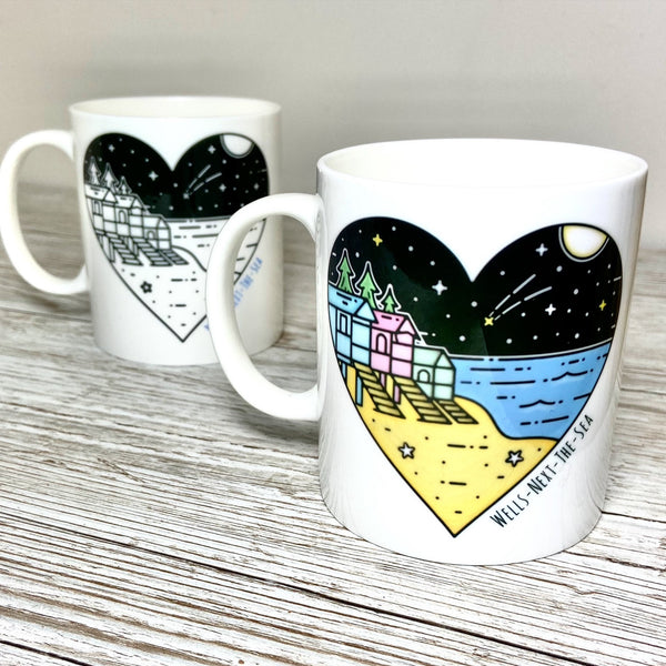 Wells Beach Woods Bone China Mug - Glitter & Mud