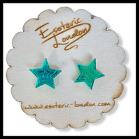 Star Mirror Acrylic Earrings