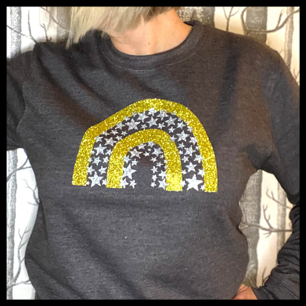 Glitter Star Rainbow Sweatshirt