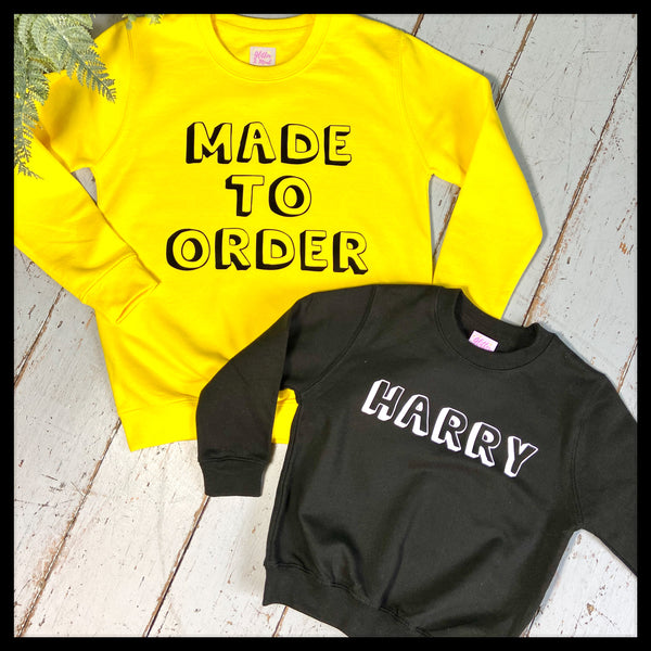 Personalised name Children's Sweatshirt