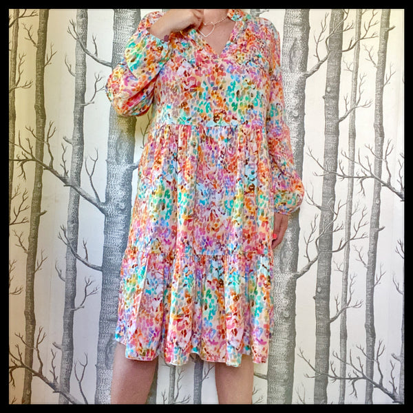 One Size Water Colour Dress
