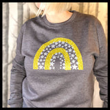 Glitter Star Rainbow Christmas Sweatshirt in gold and silver  Christmas Jumper-Glitter & Mud