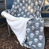 Skull Fleece Throw Blanket