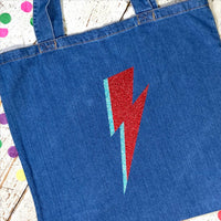 Bowie Bolt Denim Shopping bag - Glitter & Mud