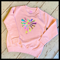 Childrens Lazer Heart Sweatshirt