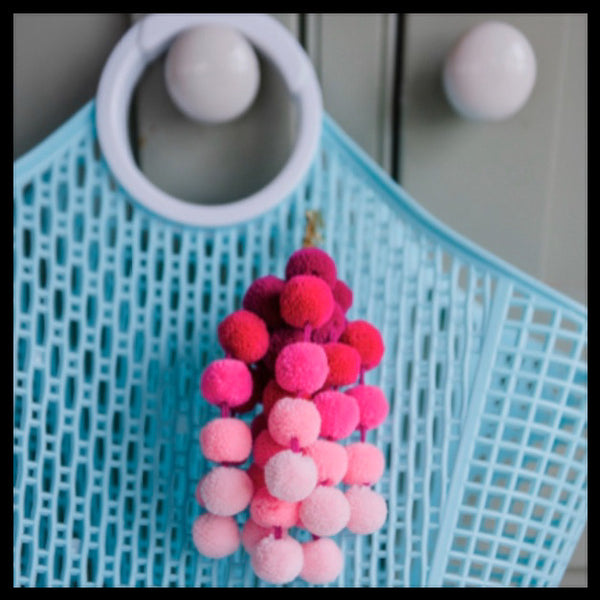 Small Cascade Pom Pom Bag Charm
