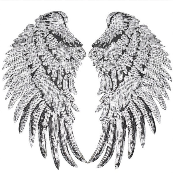 Iron On Angel Wings - Glitter & Mud