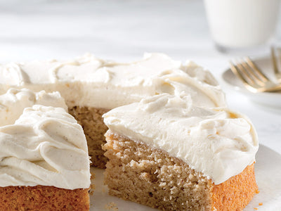 Vanilla Applesauce Cake with Vanilla Bean Cream Cheese Frosting