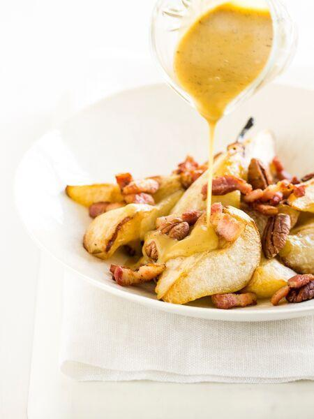 roasted pear bacon and pecans
