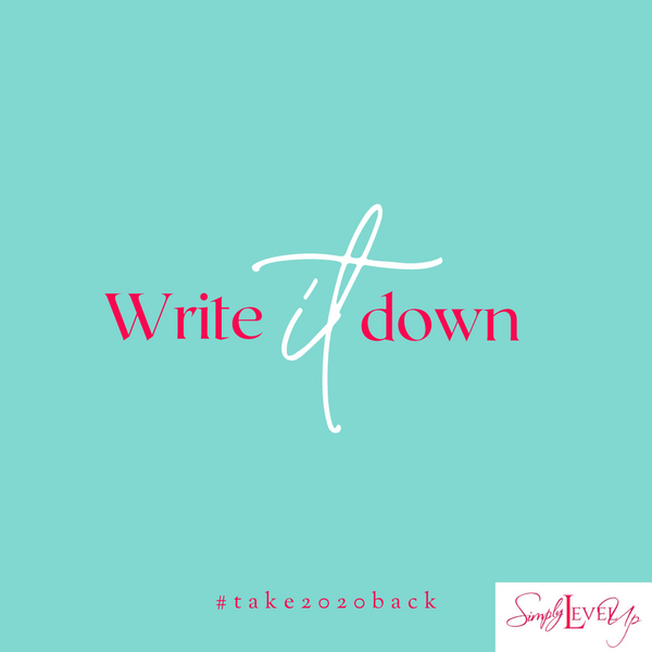 How To: Gain Success By Writing Your Goals Down!