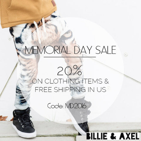 MEMORIAL DAY SALE - 20% of clothing items