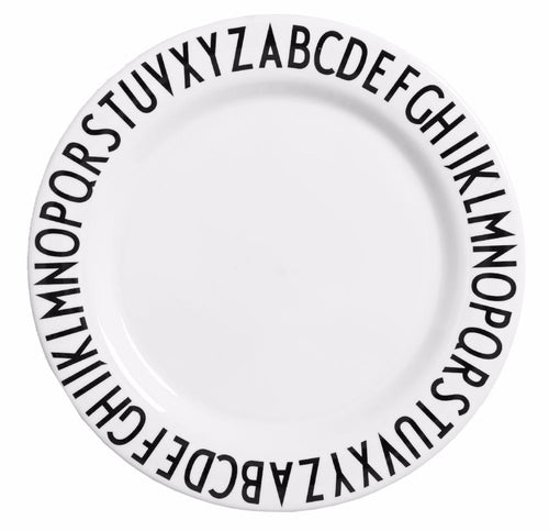 DESIGN LETTERS MELAMINE LARGE PLATE ALPHABET 24 CM-PLATE-DESIGN LETTERS-Billie & Axel, Montreal, Canada & USA