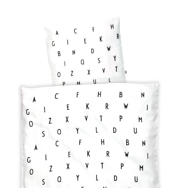 Design Letters Junior Bed Linen White Black
