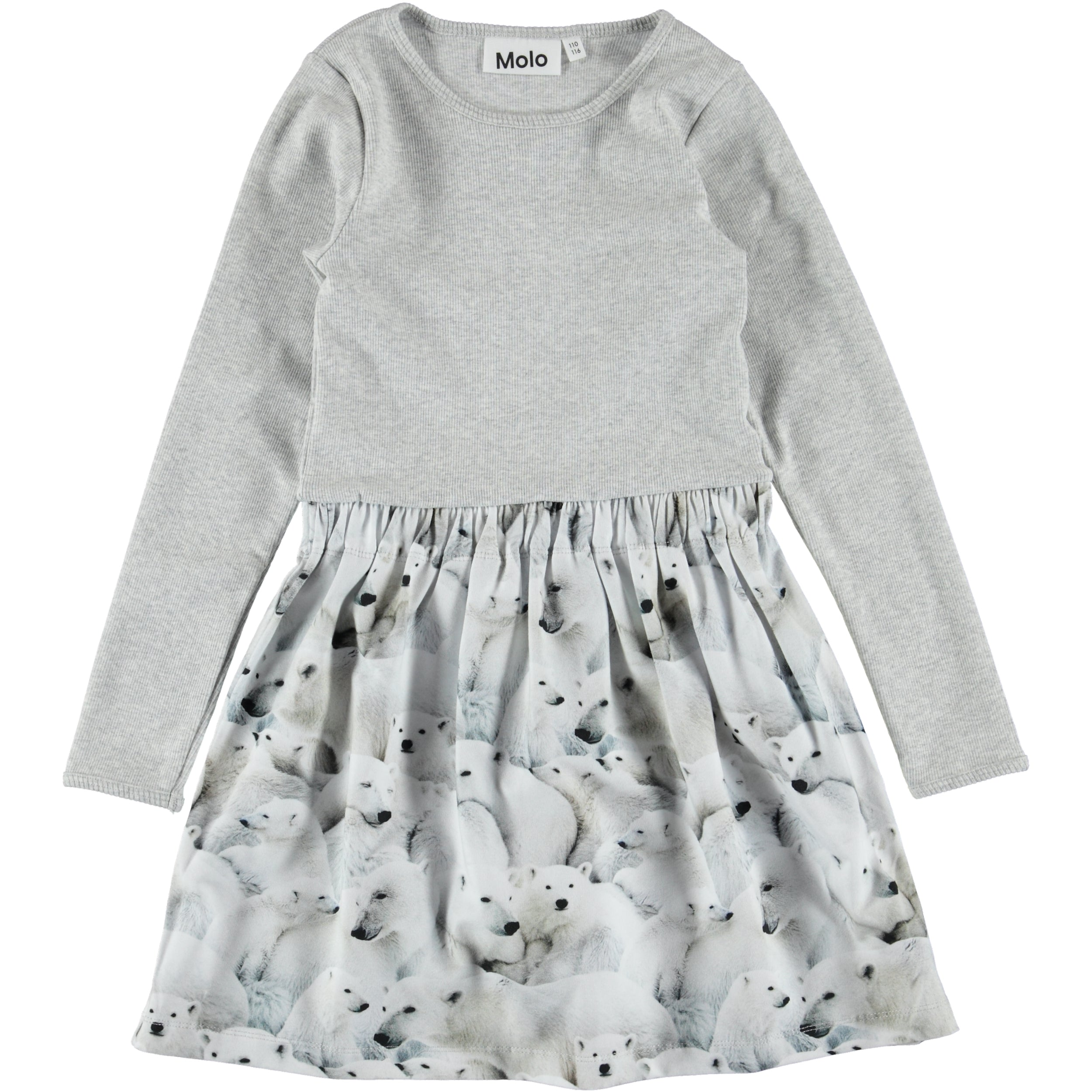 MOLO Credence Dress LS Polar Bear Jersey-Dress-MOLO-Billie & Axel, Montreal, Canada & USA